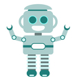 Happy little robot blue vector