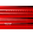 Bright red tech background vector