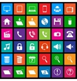 Media icons in flat metro style vector