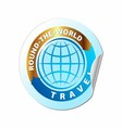 Travel the world icon vector