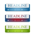 Abstract web headers design banners vector