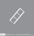 Film sign symbol of cinema celluloid vector