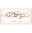 Cute pink flowers vintage background vector