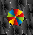 Umbrella design over black background vector