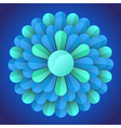 Abstract blossom flower vector