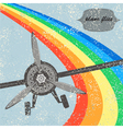 Vintage flight plane background vector