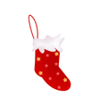 A lovely red christmas stocking vector