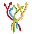 Many arrows - many ways vector