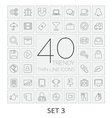 40 thin line icons set 3 vector
