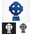 Celtic cross symbol vector