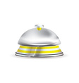 Silver and gold hotel reception bell vector