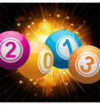 2013 bingo lottery balls background with gold star vector