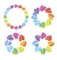 Logo many hearts vector