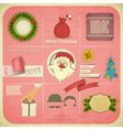 Old christmas and new year card vector