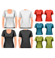 Set of colorful female t-shirts vector