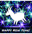 Goat paper applique on glowing bright background vector