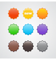 Colorful stickers vector