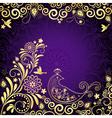 Vintage violet frame vector