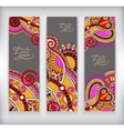 Set of decorative flower template banner card web vector