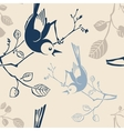 Seamless pattern with branches and birds vector
