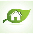 Home icon at leaf vector