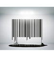 Barcode on the wall vector
