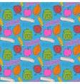 School pattern with color blots vector