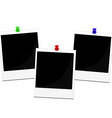 Polaroid frames set vector