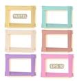 Wooden picture frames pastel set vector
