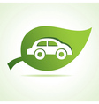 Car icon at leaf vector
