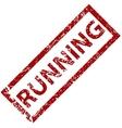 Running rubber stamp vector