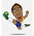 Soccer player brazil vector