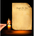 Old paper candle vector