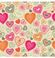 Vintage doodle love pattern vector