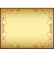 Bright frame with gold gradient vector