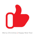 Red mitten thumb up icon on white background vector