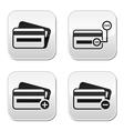 Credit card cvv code buttons set vector