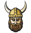 Viking head vector