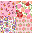 Seamless decorative flower pattern vector