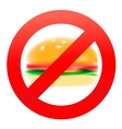 Unhealthy food hamburger vector