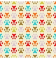 Animal seamless pattern of paw footprint endless vector