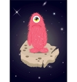 Alien lost in space sad monster vector