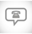 Phone black icon vector