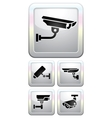 Cctv labels video surveillance vector