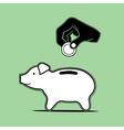 Pig moneybox vector