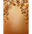Autumn leaves background template eps 10 vector