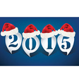 Bubble speech 2015 with christmas hats vector