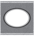 Gray frame on floral gray background vector
