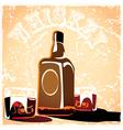 Bottle of old whiskey vector