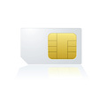 Mobile cell phone sim card vector